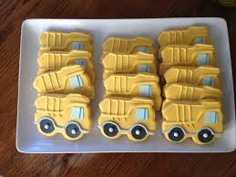 100 Dump Truck Cookies Construction Party Masons Second Birthday