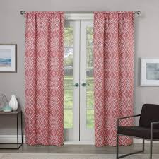 Eclipse Room Darkening Curtain Rod by Eclipse Blackout Paloma 95 In L Coral Rod Pocket Curtain