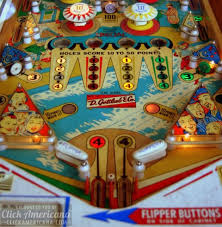 Early Vintage Flipper Pinball Machines