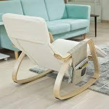rocking chair chambre bébé inspirant sobuy fst16 w fauteuil bascule avec repose pieds réglable