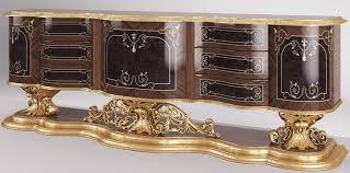 casa padrino luxus barock sideboard braun antik gold 305 x 50 x h 115 cm prunkvoller wohnzimmer schrank edel prunkvoll
