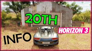 20TH Barn Find - How It Will Unlock, Probable Location + Car ... Forza Horizon 3 Barn Finds Guide Shacknews All 15 Find Locations Revealed Here Is Where To Find All In Cars In Barns Xbox One Review Expanded And Improved Usgamer New For 2 Ign Latest Fh3 Brings The Volvo 1800e Australia Iconic Holdens Aussie Classics Headline Latest Hot Wheels Expansion Arrives May 9 Wire 30 Screens Review Racing Toward Perfection Bgr Tips Guide You Victory Red Bull
