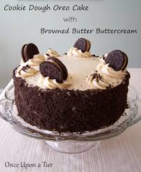 ce Upon a Tier Cookie Dough Oreo Cake with Browned Butter