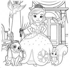 Amazing Coloring Disney Pages Sofia The First In Sophia Page