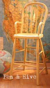 Pen & Hive: Updating An Antique High Chair With An Old ... 24 Things You Should Never Buy At A Thrift Store High Chair Tray Hdware Baby Toddler Kid Child Seat Stool Price Ruced Vintage Wooden Jenny Lind Numbered Street Designs The Search Antique I Love To Op Shop Bump Score 52 Old Folding High Chair Has Been Breathed New Life Crookedoar Antique Dental Metal Dentist Chair Restored With Toscana Finish Wikipedia German Wood Doll Play Table Late 19th Ct