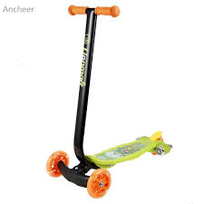 Wholesale Ancheer New Kick Scooter Child Kids 3 Wheel With LED Light Up Wheels And Music Skateboard Longboard Scooters