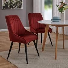 furniture 2er set esszimmerstuhl polsterstuhl stoff samt