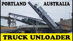 Truck Unloader At Portland Vic Australia - Australian Trucks - YouTube Truck Loader Loaders Unloader Loading Conveyors Masaba Amazoncom Loadhandler Pickup Standard Midsize Astec Bulk Handling Solutions Targets Sea Ports And Inland River Driover Scraper End Dump With 48 Conveyor For Telestack On Twitter Heap Leaching In Kazakhstan Titan T8006 84 Autounloader Sec Group Container Tilters Shipping Trailer Ramp Hydrabrute Del Zotto Formsdel Forms Harbor Freight Load Handler Unloader Youtube Hero Razertail By Superior Industries 1