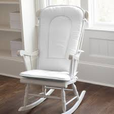 Solid White Rocking Chair Pad | Carousel Designs
