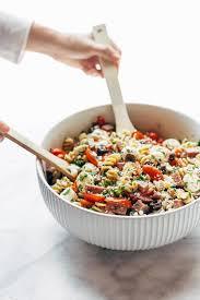 Serving Italian Pasta Salad