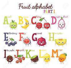 Fruit Alphabet English Capital Fruit Alphabet And Fruit Alphabet