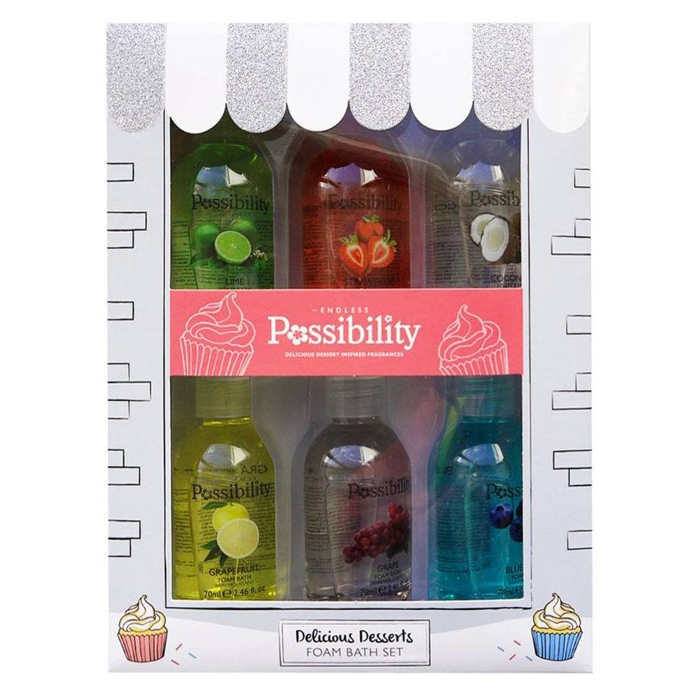Possibility Delicious Desserts Bath Foam 6 Pieces Gift Set
