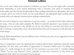 Free Demand Letter Sample PDF 11KB