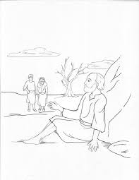 Jobs Faithfulness Bible Story Coloring Page