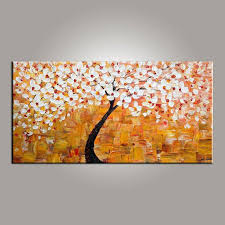 Paintings For Dining Room Unique Art On Sale Flower Tree Painting Abstract