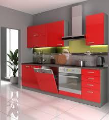 küche basic iii 240 küchenzeile glanz rot küchenblock einbauküche