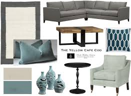 Brown And Teal Living Room Pictures by The Yellow Cape Cod