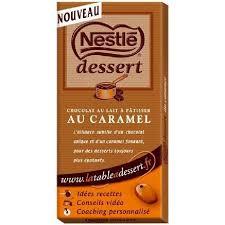 nestle dessert chocolat lait caramel 170g achat vente chocolat