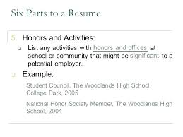 Resume Examples For College Students With Little Work Experience No High School Example Activities Honors Six