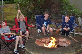 Image Of Backyard Camping Party Fire