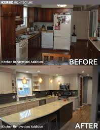 Kitchen Renovation White Cabinets Granite Countertop Pendant And Can Lighting Light Wood
