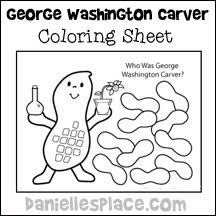 George Washington Carver Coloring Sheet From Daniellesplace