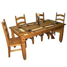 dining table mexican dining room table and chairs image rustic