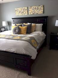 3 Black Furniture With Yellow And Grey Bed Bedroom Ideas