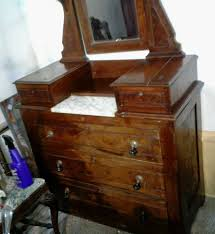 Antique Birdseye Maple Dresser With Mirror by Eastlake Victorian Dresser Late 1800s Adjustable Mirror Marble