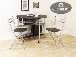 Folding Dining Set Drop Leaf Table And Chairs Butterfly Dining Table With  Four Folding Dining Chairs Black Finish