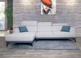sofa hwc g44 ecksofa l form 3 sitzer liegefläche nosagfederung taschenfederkern verstellbar links hellgrau