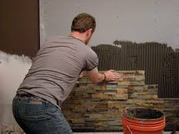 Tile Adhesive Mat Vs Thinset by How To Install Stacked Stone Veneer Wall Tiles