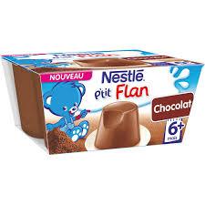 desserts bébé 6 mois flan chocolat nestlé nestlé les 4 pots de
