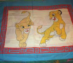 l k vintage 1990 s lion king toddler bedding comforter lion