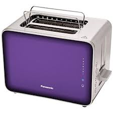 Panasonic NT ZP1V Breakfast Collection 2 Slice Toaster Stainless Steel Violet