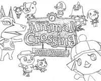 Coloring Pages Animal Crossing Drawing