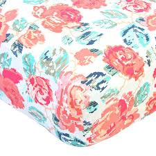 Teal And Coral Baby Bedding by Everly U0027s Garden Ruffle Baby Bedding Caden Lane