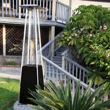 Pyramid Patio Heater Glass Tube by Garden Radiance Dancing Flames Pyramid Outdoor 34 000 Btu Propane