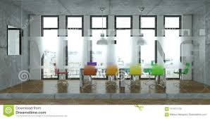 Modern Conference Table With Colored Chairs Interior Design. 3d ... Meeting Fniture Boardroom Tables Office Conference Room Chairs Beautiful Contemporary Meeting Room Fniture Factory Direct Sale Modern Table With Colored Interior Design 3d Side View New Wooden In Of Business Center Board Large And Red Executive Richfielduniversityus Western Workplaces That Spark Innovation Affordable Minimalist Desk Chair Shop