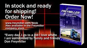 DON Freymiller New Book 11 18 13 - YouTube When Semi Truck Driver Is Just Irresponsible Youtube Ertl Freymiller Freightliner Truck And Trailer Diecast Metal Inc A Leading Trucking Company Specializing In Best Practices Truck Trailer Transport Express Freight Logistic Diesel Mack Invitation To Exhibit For More Information To Exhibit Pdf Camz Corp Rosedale Md Rays Photos Ata Offering Members A Cybercrime Reporting Tool Fleet Management Turkey Hill Dairy Conestoga Pa 2015 Midamerica Trucking Show Directory Buyers By Paschall Lines New Perks Are Game Changers