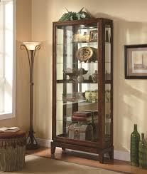 Ikea Detolf Cabinet Light by Furniture Oak Corner Curio Cabinet Ikea With Light And Glass