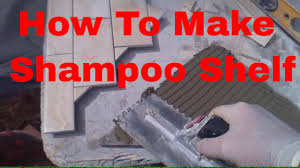 how to make shoo shelf out of tile and cement broad and