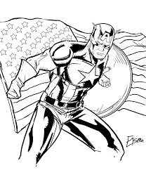 Amazing Captain America Printable Coloring Pages Free For Kids