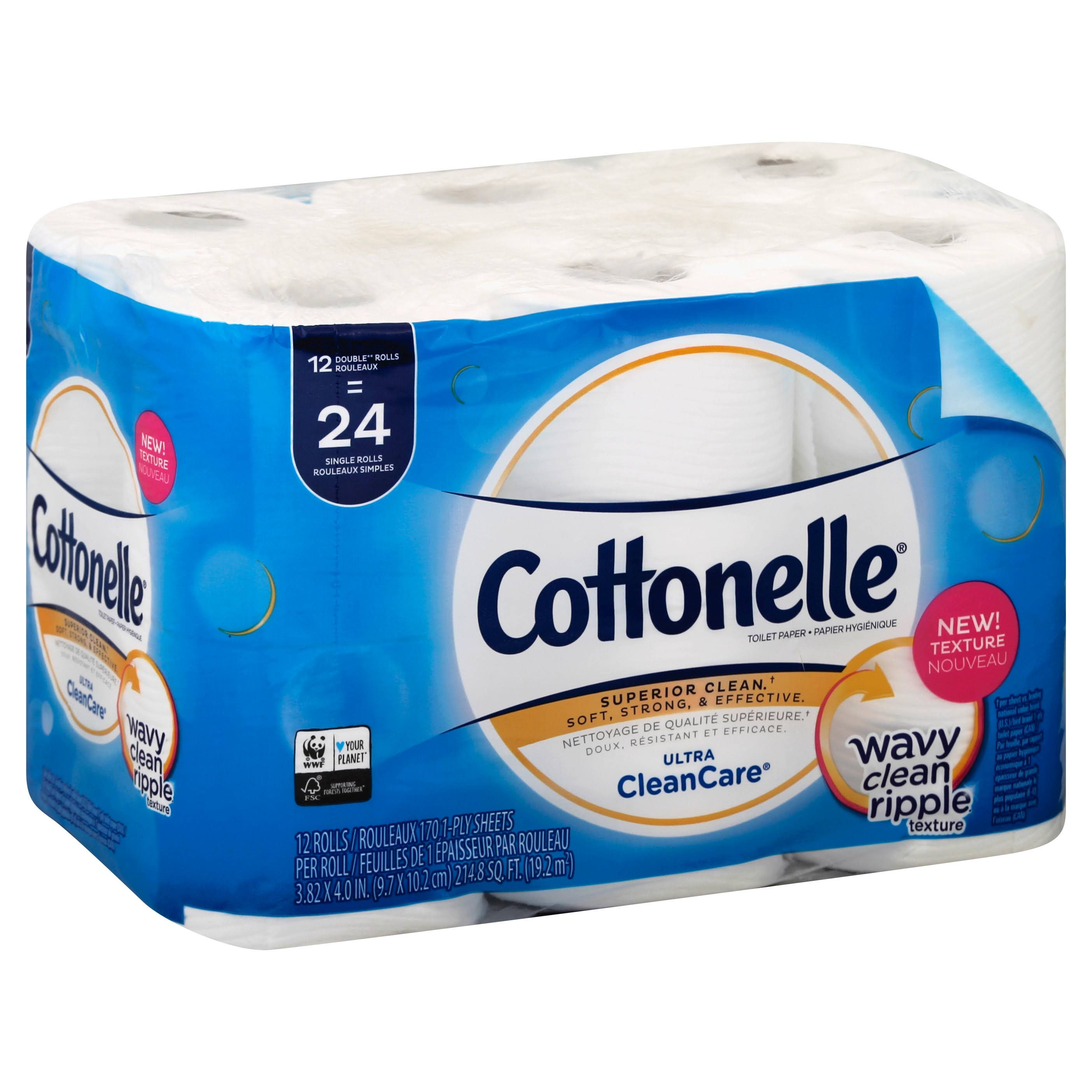 Cottonelle Clean Care Double Roll Toilet Paper - 12ct