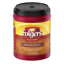 Folgers Hazelnut Coffee Canister Flavored