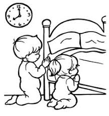 Children Praying Coloring Pages For Kids Sketch Page