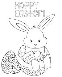 Bunny Coloring Page Coloringpage Easter Chick Pages Printable Eggs Basket Medium Size