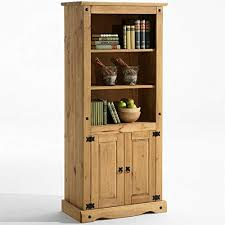 Corona Pine Shelves And Cabinet Living Dining Room Display Unit L 81 Cm X 44