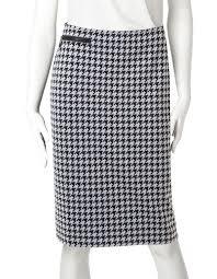 houndstooth stretch pencil skirt cleo