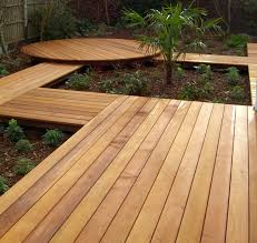 any color types of cedar decking cement patio